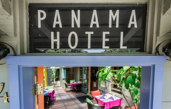 Welcome To The Panama Hotel - Panama Hotel Entrance